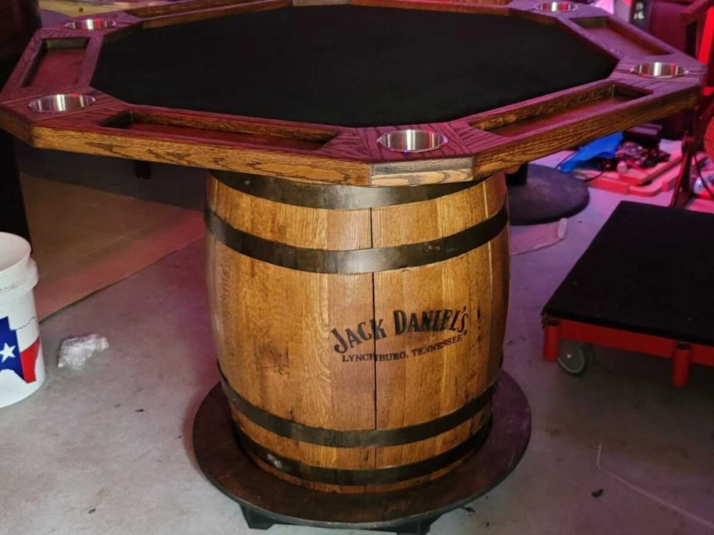 Made to Order Poker Tables in Conroe, Texas.